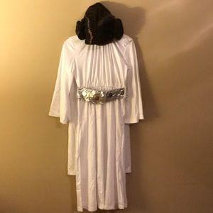 Princess Leia costume with wig